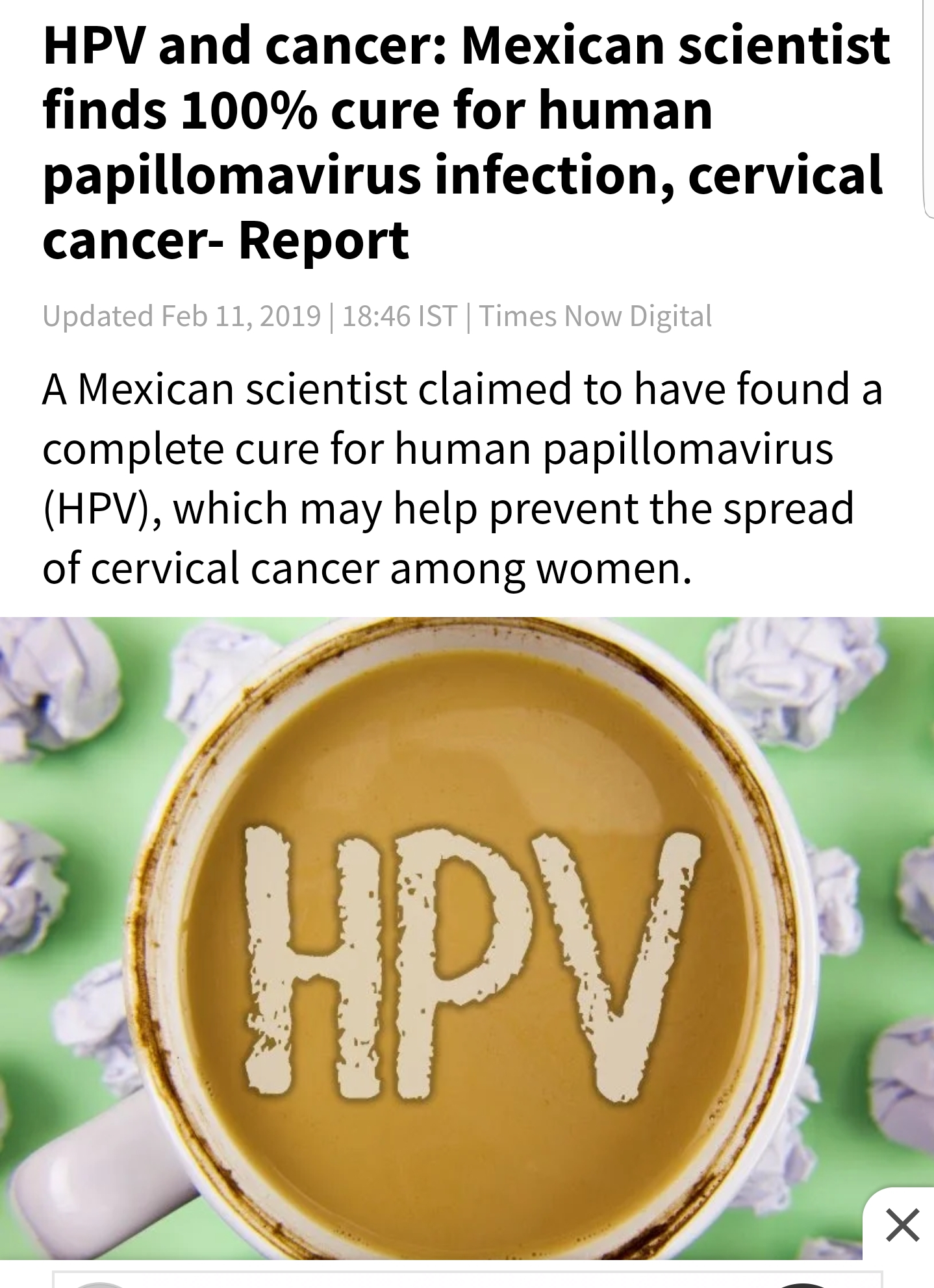 hpv cure coming soon