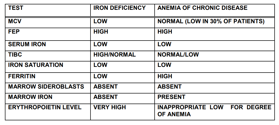 anemia with normal iron levels hpv virus and precancerous cells