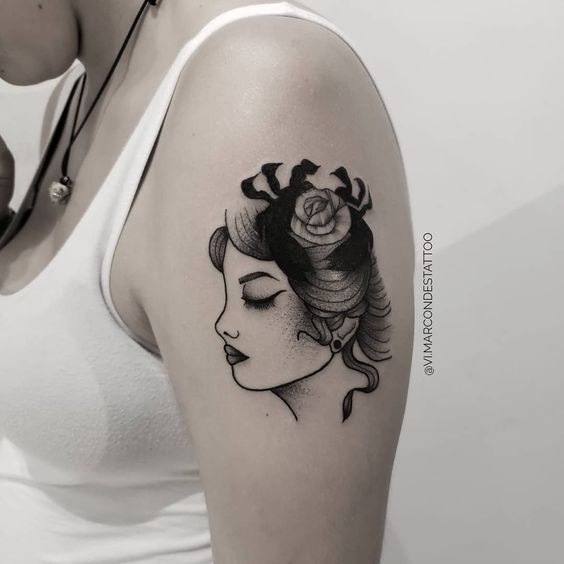 feminine cancer tattoos