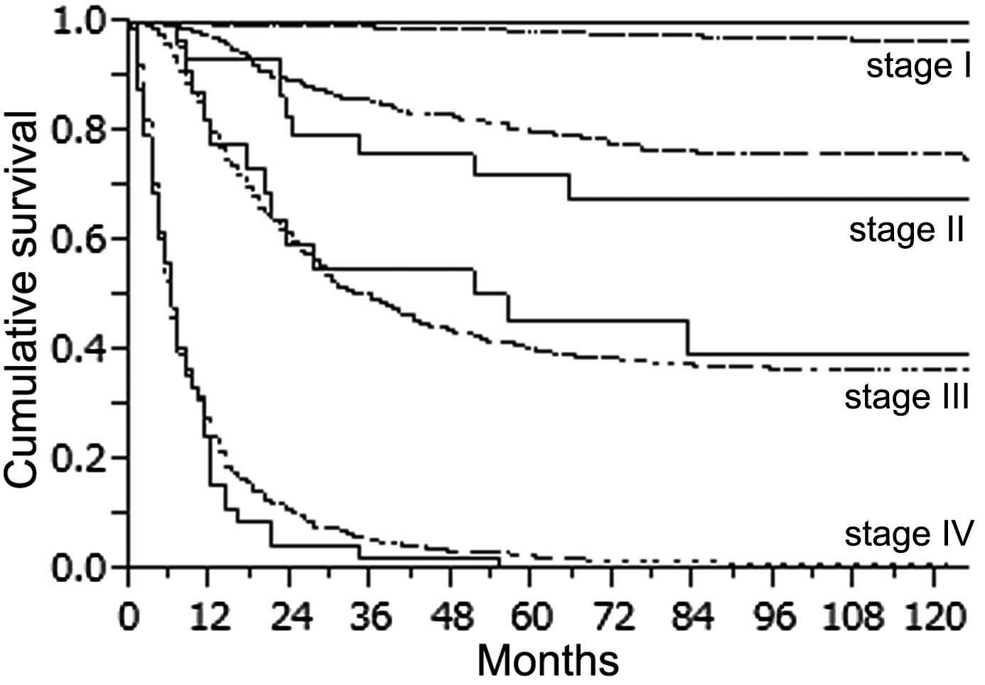 gastric cancer years cancer in gat analize