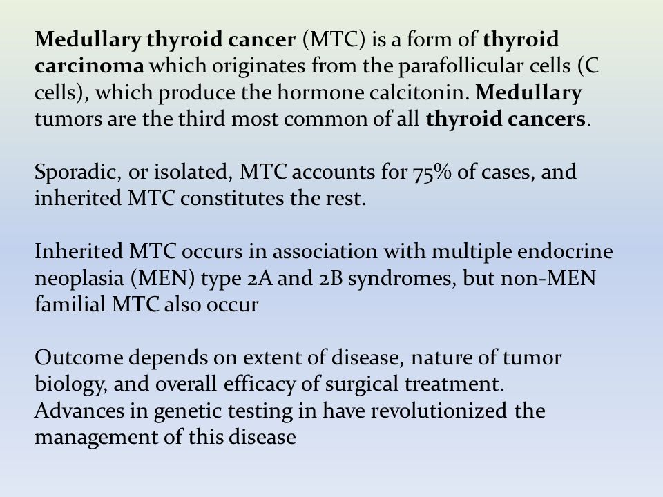papillary thyroid cancer calcitonin
