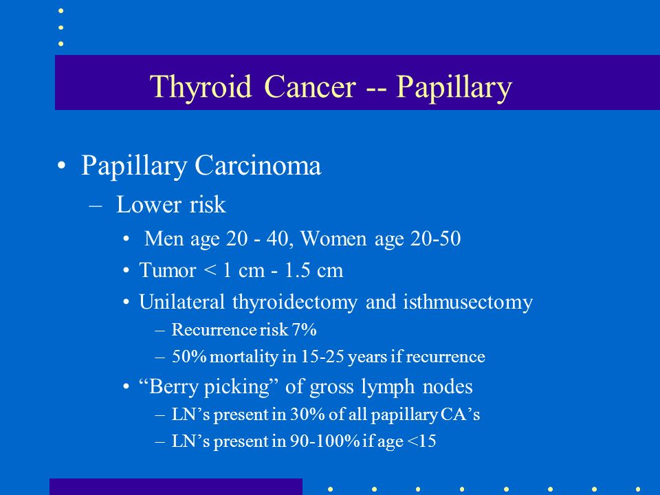 papillary thyroid cancer young age
